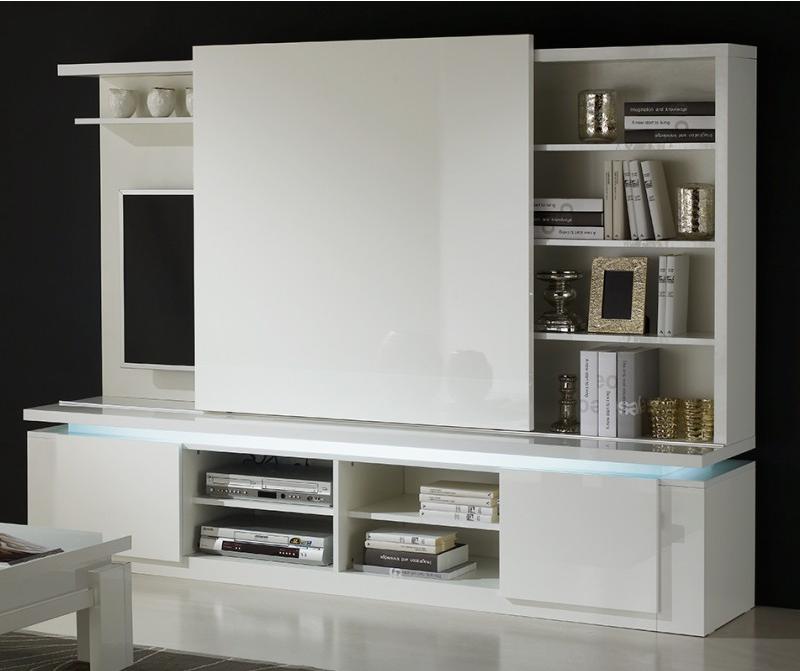Il tuo soggiorno moderno e multiuso con un mobile porta tv - Mobile porta tv a scomparsa ...