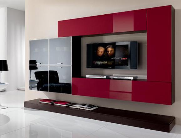 Arredo Soggiorno Rosso : Il tuo soggiorno moderno e multiuso con un mobile porta tv